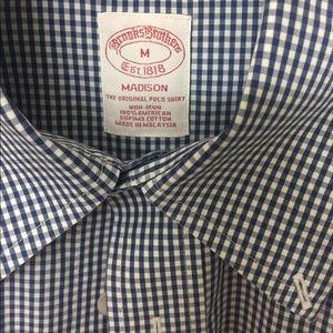 006c2ddf216 Brooks Brothers Shirts - Non-Iron Madison Fit Micro Gingham Sport Shirt